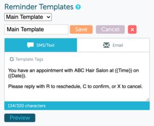 Customizable message templates