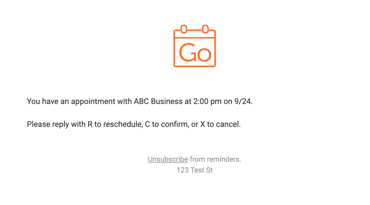 GoReminders sends automatic email reminders