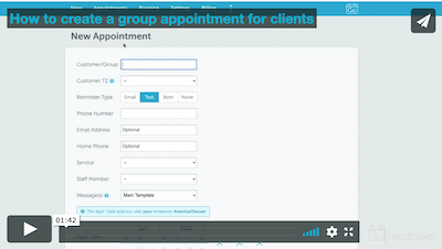 Group appointment reminder screencast