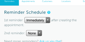 Send a text appointment reminder