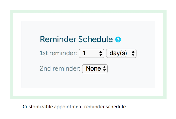 Here's a screenshot we used on our appointment scheduling software info page.