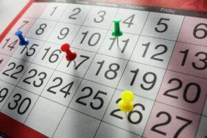 Photo of a calendar.